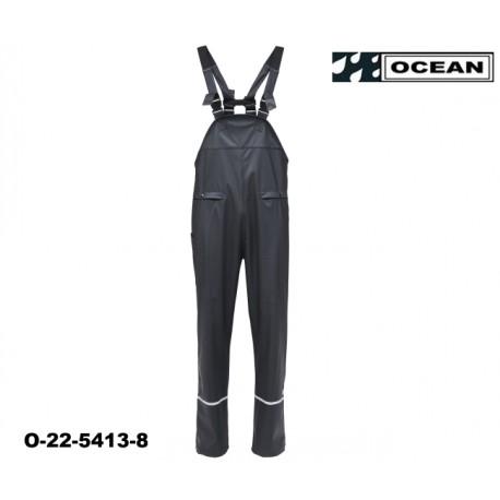 Schwarze Regen Latzhose Ocean Comfort Stretch leicht