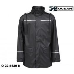 Schwarze Regenjacke Ocean Comfort Stretch leicht