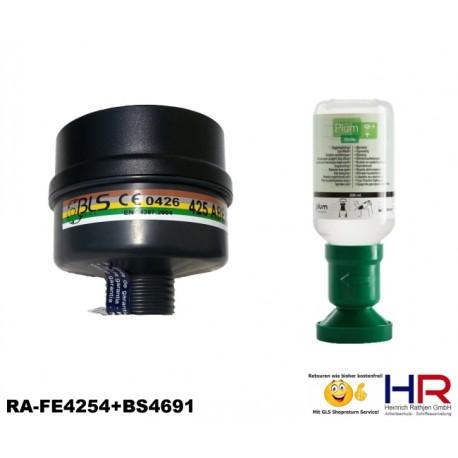 Nachfüllset Gefahrgutkoffer Atemschutzfilter und Augenspülflasche