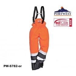 Regen- Warnschutz Multi-Norm Hose Bizflame™ mit GO/RT Norm orange/marine
