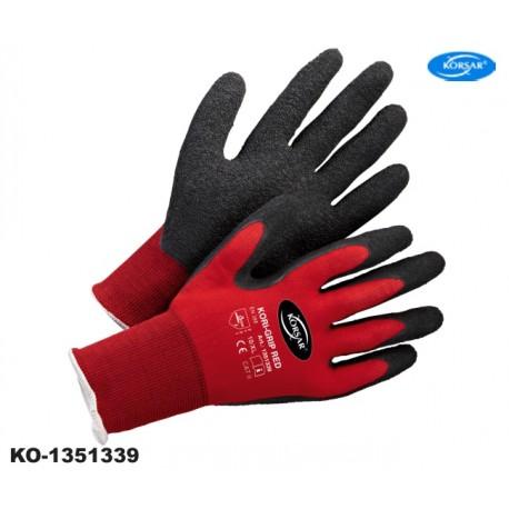 Arbeitshandschuhe Korsar® Kori Grip rot-schwarz