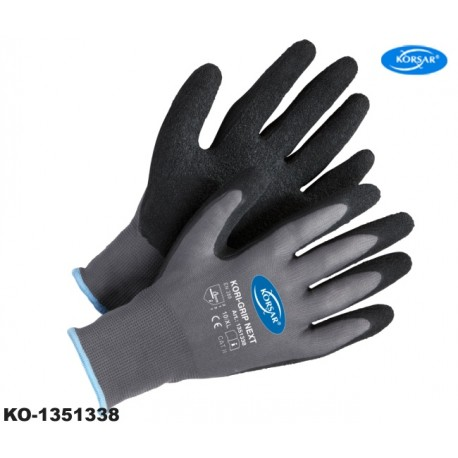 Arbeitshandschuhe Korsar® Kori Grip grau-schwarz 144 Paar