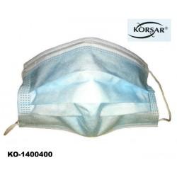 Mund- und Nasenmaske 50 Stück Box Korsar® EN 14683: 2019 Klasse 1 blau mit Gummizug