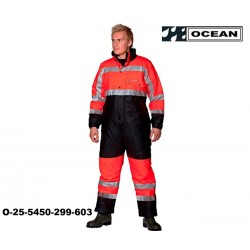 Warnschutz Thermo Regenoverall gefüttert Ocean High vis Ocean orange/marine