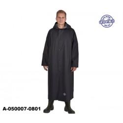 Schwarzer PVC Regenmantel leicht Sitex Ohava 135 cm