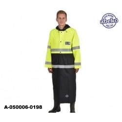 Warnschutz Regenmantel lang gelb-schwarz