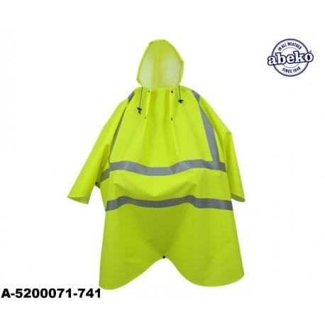 Warnschutz Regencape mit Kapuze leicht - 170 Gr. PU Atec High-vis gelb