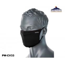 Mund- Nasenschutz Gesichtsmaske 3-lagig Anti-Mikrobiell 25 Stück Box