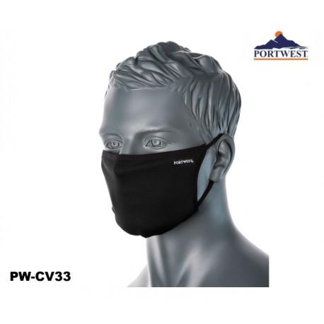 Mund- Nasenschutz Gesichtsmaske 3-lagig schwarz