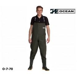 Wathose OCEAN de Luxe 7-70 Nova fischen, angeln, waten 700 gr. PVC Angebot