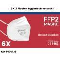 FFP2 Schutzmaske mit Ohrschlaufen - Box mit 6 Stück EN149-2001 + A1 2009 CE 1463