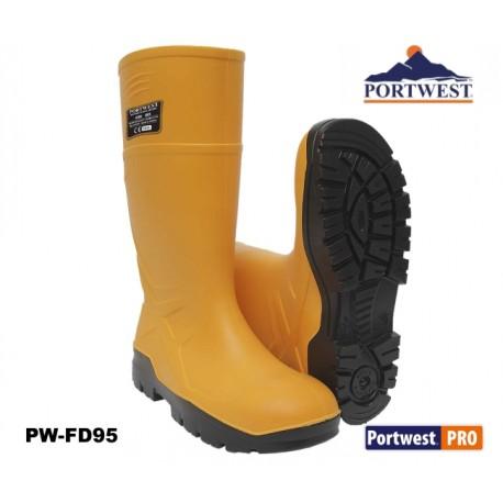PU S5 Sicherheits-Gummistiefel Baugewerbe - Wellington gelb