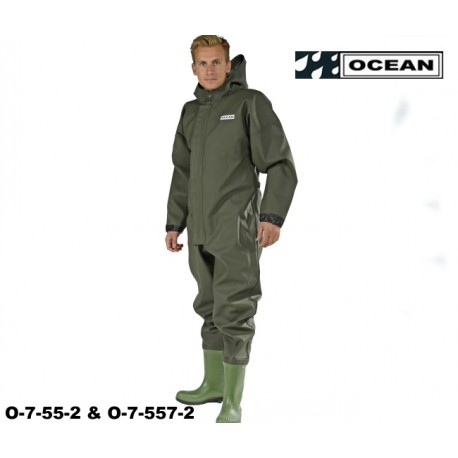 Ganzkörper, Schutzanzug, Heavy Duty, OCEAN OFF SHORE & FISHING, angeschweißte Stiefel!
