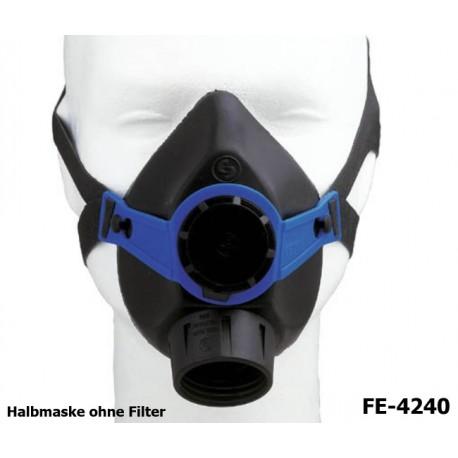 Atemschutz, Halbmaske, Maske ohne Filter, 1 Ausatemventil, Norm EN140