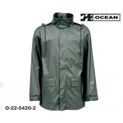Regenjacke Ocean Comfort Stretch leicht Farbe oliv