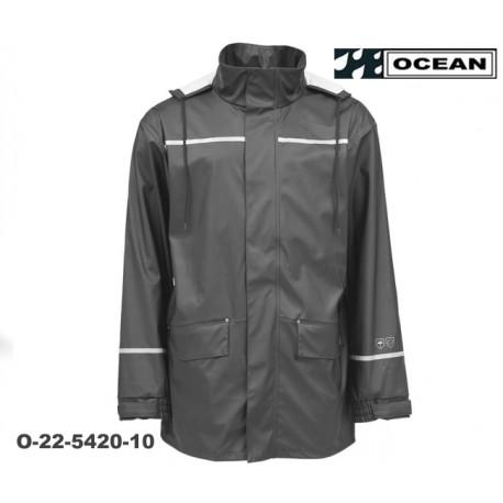 Regenjacke Ocean Comfort Stretch leicht Farbe grau