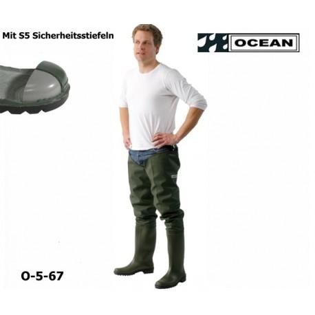 Seestiefel / Watstiefel mit S5 Sicherheitsstiefeln Original, OCEAN