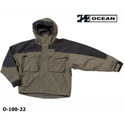 Watjacke atmungsaktiv, OCEAN, Fliegenfischer, Atmungsaktive Watjacke, olivgrün - schwarz