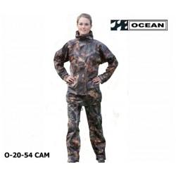 Regenanzug für Angler, Jäger, Outdoor! Ocean 20-54 Camouflage , Jacke und Hose, Comfort Stretch