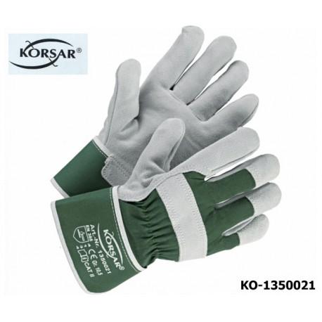 Schutzhandschuhe Leder, 60 Paar!, KORSAR Trucker / EN 388 Kat.II, Rindskernspaltleder