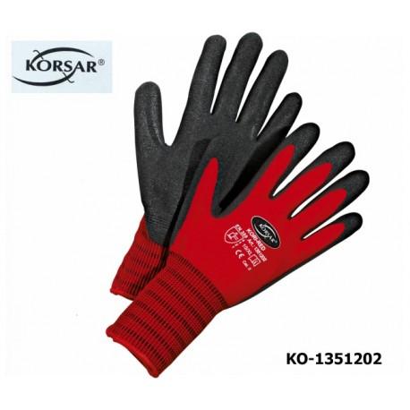 Schutzhandschuhe, Montagehandschuhe, 72 Paar, Kori-Red, Korsar® Nylon Nitril, verschleißfest