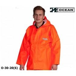 OCEAN Fischerjacke, Regenbekleidung 325g PVC orange