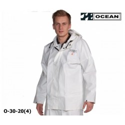 OCEAN Fischerjacke Regenbekleidung 325g PVC weiß