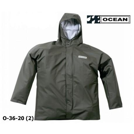 Regenjacke OCEAN 36-20 COMFORT HEAVY Olive, PU / Nylon Landwirtschaft, Angler, Jäger