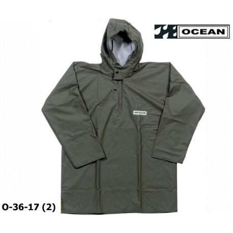 Regen-Fischerbluse, Smock, Regenbekleidung OCEAN 36-17 COMFORT Heavy, olivgrün