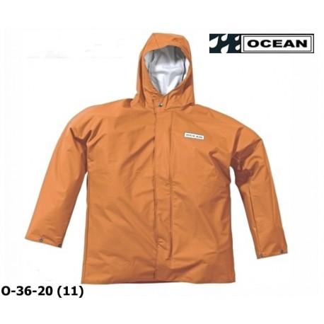 Regenjacke OCEAN 36-20 COMFORT HEAVY orange, PU / Nylon Landwirtschaft, Angler, Jäger