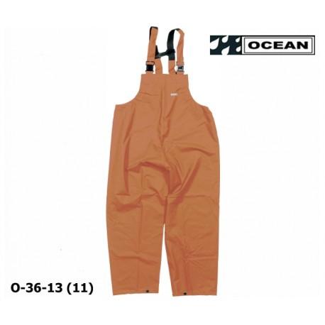 Regenlatzhose OCEAN 36-13 COMFORT HEAVY orange, PU/Nylon Landwirt, Angler, Jäger