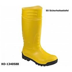 Sicherheitsgummistiefel S5, PVC gelb, Stahlkappe und Stahlzwischensohle, Bauindustrie