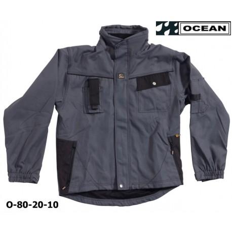 OCEAN Thor Jacke 80-20 Work Wear, graue Arbeitsjacke mit tollen Extras, Nano Teflon® behandelt