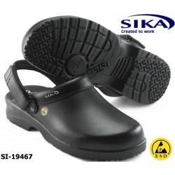 SIKA ESD Clog OB Fusion 19467 Berufsclog mit Fersenriemen ohne Kappe schwarz
