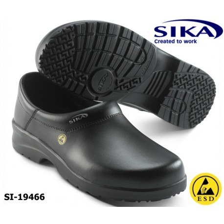SIKA Clogs ESD Clogs O2 Fusion 19466 geschlossene Berufsclogs ohne Kappe schwarz