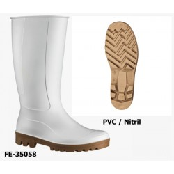 PVC / Nitril Stiefel Foodmaster weiß - hochwertiger Berufsstiefel ab Größe 36! EN ISO 20347 O4 FO SRC