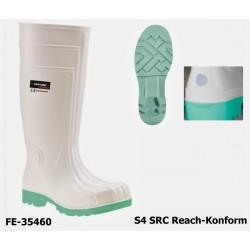 S4 Sicherheitsstiefel weiß PVC / Nitril, HALIFAX, leicht, Reach-Konform EN ISO 20345 S4 SRC ab Größe 37