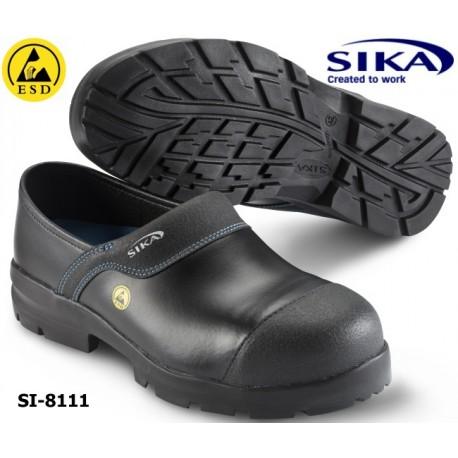 Sika Clogs 8111, ESD Modell Flex Light S3 SRA Clog - geschlossener Sicherheitsclog mit Alukappe