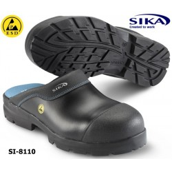 Sika Clogs 8110, ESD Modell Flex Light SB SRA Clog - offener Sicherheitsclog mit Alukappe