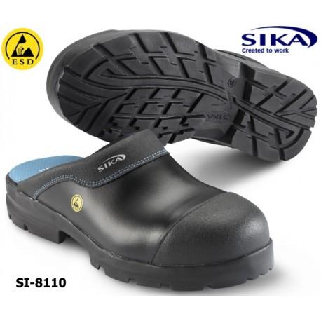 Sika Clogs 8110, ESD Modell Flex Light SB SRA Clog - offener Sicherheitsclog mit Alukappe