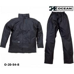 Regenanzug leicht schwarz PU Comfort Stretch Ocean 20-54 schwarz