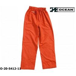Regenhose leicht - PU Comfort Stretch - Ocean Bundhose 20-5420 orange aus 210gr PU