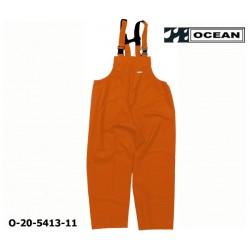 Regenlatzhose leicht - PU Comfort Stretch - Ocean Latzhose 20-5413 orange aus 210gr PU