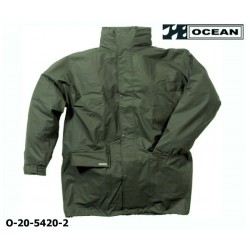 Regenjacke leicht PU Comfort Stretch Ocean 20-5420 olivgrün