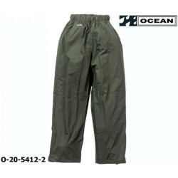 Regenhose leicht - PU Comfort Stretch - Ocean Bundhose 20-5412 olivgrün aus 210gr PU