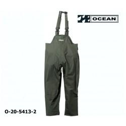 Regenlatzhose leicht PU Comfort Stretch Ocean Latzhose 20-5413 olivgrün