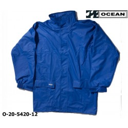 Regenjacke leicht - PU Comfort Stretch - Ocean 20-5420 Königsblau aus 210gr PU