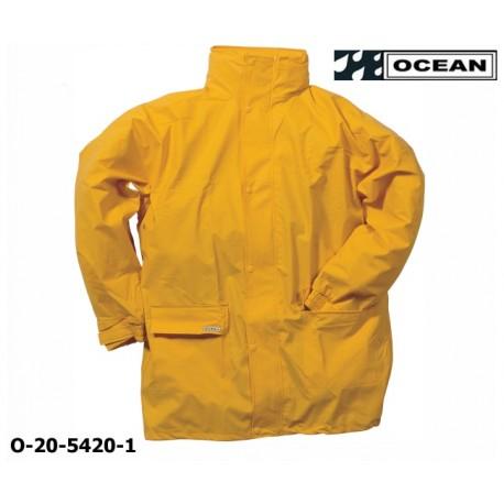 Regenjacke leicht - PU Comfort Stretch - Ocean 20-5420 gelb aus 210gr PU