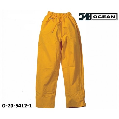 Regenhose leicht - PU Comfort Stretch - Ocean Bundhose 20-5412 gelb aus 210gr PU