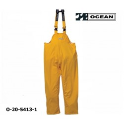 Regenlatzhose leicht - PU Comfort Stretch - Ocean Latzhose 20-5413 gelb aus 210gr PU